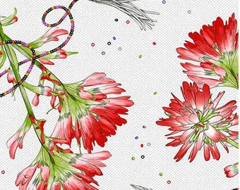 Ink & Arrow - Indian Paintbrush - Floral - Lt Gray - Fabric by the Yard 26134-K