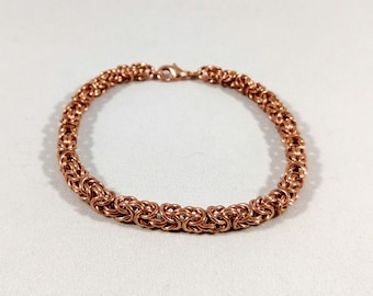 Chain Bracelet - Copper - Byzantine Chainmaille Weave