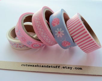 Masking Tape Washi Tape Set Baby Girl - 5x5 mt