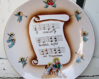 Hand Painted Norcrest Christmas Plate