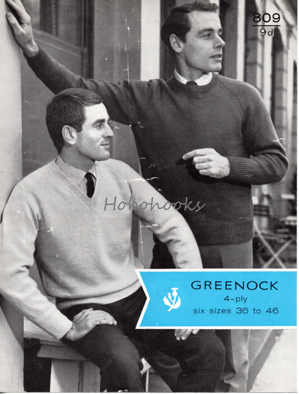 Mens sweaters knitting pattern 4 ply pullovers v neck round neck ...