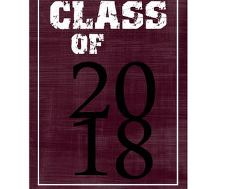 Hardcover Memory Book - High School Senior Year  (Class of 2018) Graduation gift, Scrapbook, Photo Album, Big Brown Chair Books, Senior 2018