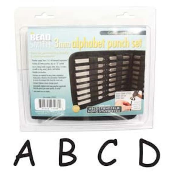 Letter Stamps - Comic Uppercase Punch 27 Piece Set with Case (3MM) In Stock