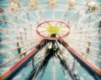 Ferris Wheel Photograph Carnival Photo Room Decor Nursery Decor Kids Room Fair Photo