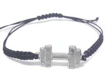 Dumbbell - stainless steel bracelet