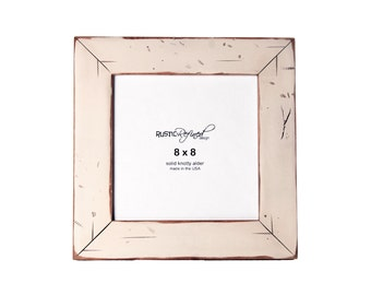 8x8 Cabin picture frame - White, Free Shipping
