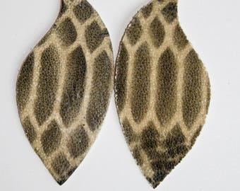 Stingray Leather Earrings