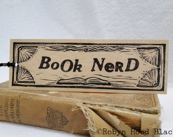 Book Nerd bookmark 2 X 6