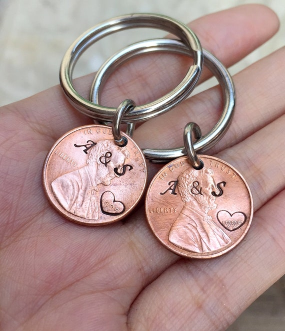 Wedding Gift Ideas For Young Couples: Items Similar To 1998 Penny Keychain, 20th Wedding