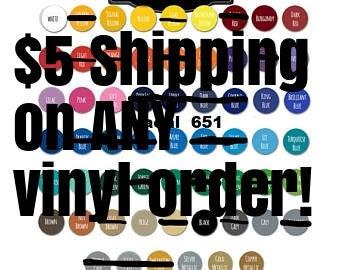 "CLOSEOUT SALE--Oracal 651 Vinyl--12"" x 24"" Sheet--Decals/Craft Vinyl--Sign Vinyl--Cricut/Silhouette--Glossy"
