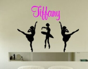 Ballerina decal-Personalized decal-Ballerina sticker-Vinyl wall decal-44 X 33 inches