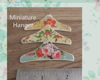 Miniature dress Hanger A-3 set of 3 hangers for dollhouse scale 1/6