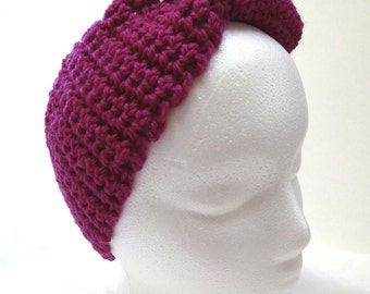 Purple Wool Headband, Head Band, Wide, Hair Wrap, Ear Warmer, Woolen, Hair Band, Head Wrap, Spring, Sports, Cycling, Boarding, Trending, New