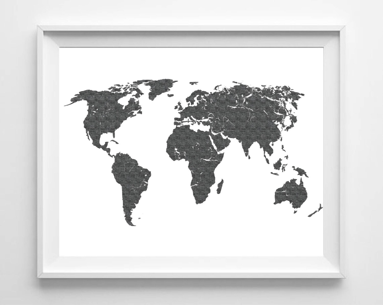 World map print printable black white wall art 11x14 zoom gumiabroncs Image collections