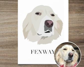 Custom Dog Portrait, Dog Portrait, Custom Pet Portrait Dog lover birthday gift, Dog Illustration, Dog anniversary gift Dog Mother's day gift