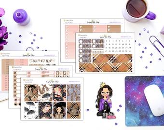 Miss Glam Lady D Burberry Planner Sticker Kit