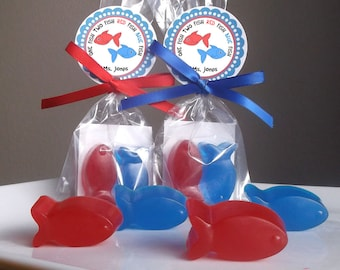 One Red Fish One Blue Fish Baby Shower Favors - Two Fish Favors, New Fish Baby Shower Favors, School  Favors, Class Favors - Set of 10