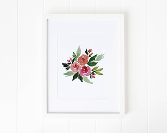 Bright Watercolor Roses | Instant Download