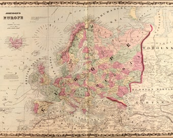 Poster, Many Sizes Available; Map Of Europe 1862