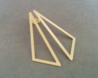 Triangle Earrings, Geometric Earrings, Triangle Studs, Stud Earrings, Gold Stud Earrings, Geometric Jewelry, Gold Earrings, Post Earrings