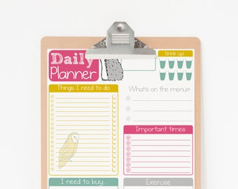 Daily Planner Printable - Printable Planner Pages - To Do List Planner Printable - Digital Planner PDF Download - Daily Planner Download