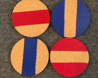 Hand painted cork coasters