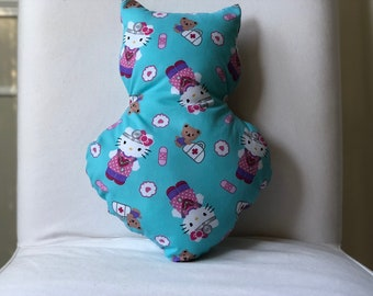Blue Hello Kitty Medical Print Pillow