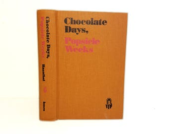 Hollow Book Safe Chocolate Days Popsicle Weeks Cloth Bound vintage Secret Compartment Security hiding place