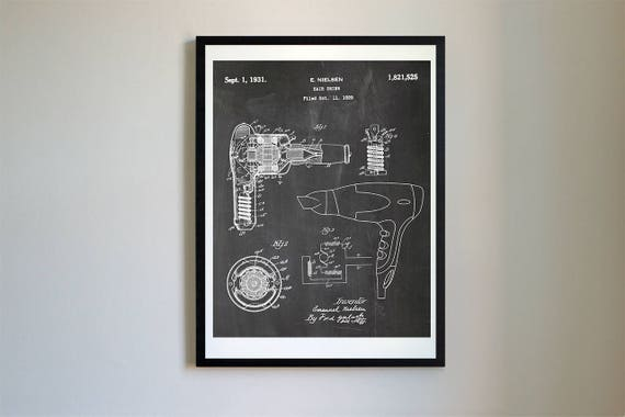 Patent evolution hair drier vector blueprint patent prints malvernweather Gallery
