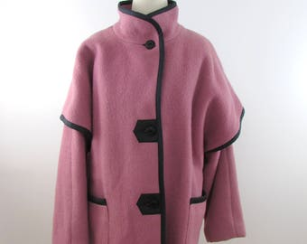 Vintage Women's Hudsons Bay Winter Coat in Rose Pink - Large xLarge