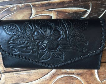Rangy Leather  wallet / woman wallet  / leather purse /.