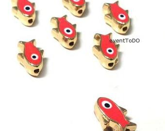 Wholesale Evil eye 10-300 charms Enamel Sliders fish Evil ' s Eye supplies jewelry charms supplies martyrika red evil eye Baptism supplies