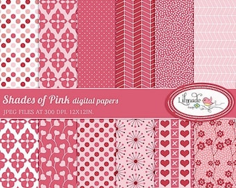 50%OFF Valentine's Day digital paper, digital paper for scrapbooking, planner paper, patterned scrapbook paper, P158