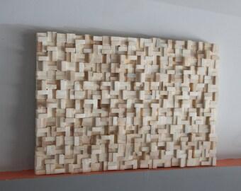 Rustic reclaimed Wood wall Art 20x30, wood wall sculpture, abstract wood art, Modern Wall Art, Wood wall Art, wood mosaic, Reclaimed wood