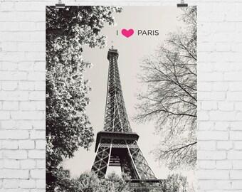 DIGITAL PRINT - I Heart Paris