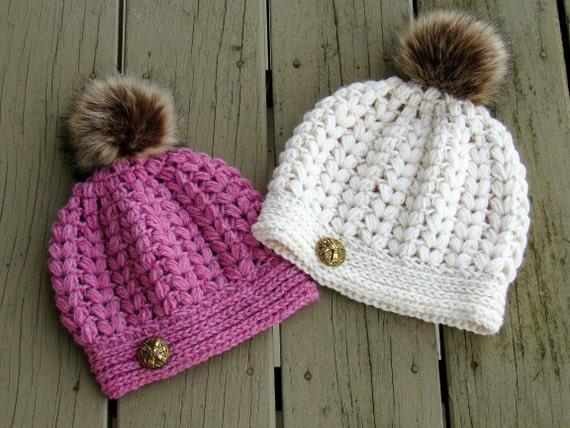 Crochet Hat Pattern Puff Stitch Hat Pattern Crochet Beanie