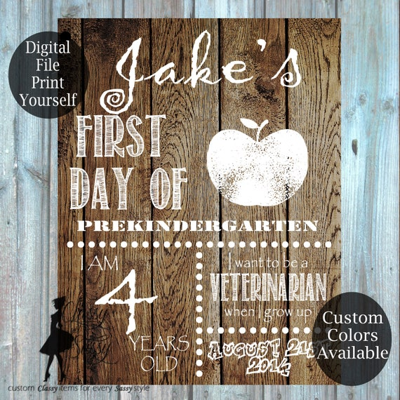 First Day Of School Wood Sign 178