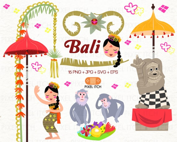 Bali Clip Art Summer Clipart Holiday Clipart Travel