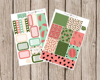 Watermelon Patch Erin Condren Weekly Planner kit