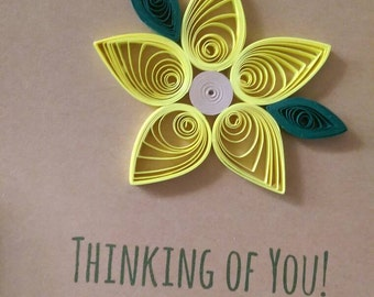Quilled Flower Card - Customize
