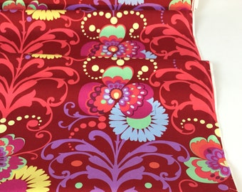 Amy Butler Paradise Garden Wine Color ~ Love Collection by Amy Butler, Cotton Quilt Fabric