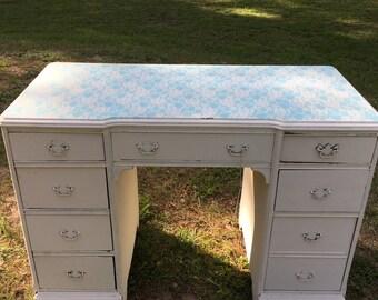 Shabby Chic Dresser, Chippy, Writing Desk, Vanity, Dresser Drawers, Lingerie,  Farmhouse