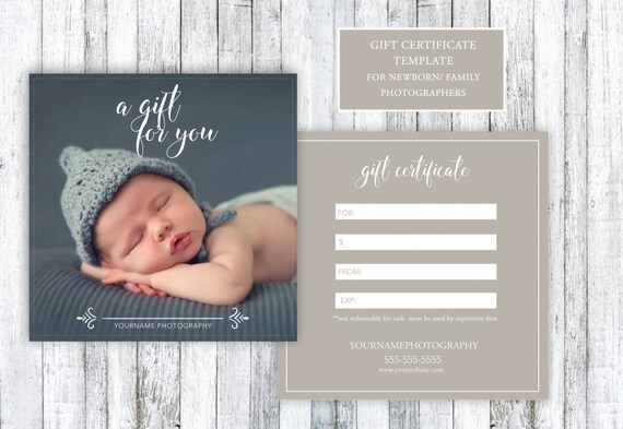 Newborn family photography gift certificate template 5x5 psd for newborn family photography gift certificate template 5x5 psd for photoshop from glamarketingdesigns on etsy studio yelopaper Gallery