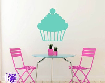 Cherry Topped Cupcake Wall Decal Decor