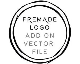 Add-on 'Vector File' to any pre-made logo purchase // Solipandi Design Studio