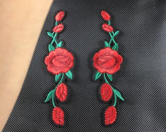 rose patch flower patch mirror flower snack tiger head patch applique shoes patch large patch erbroidered patch iron on patch sew on patch