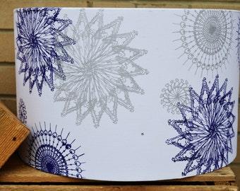 Hand Printed Spiral Fabric Lampshade