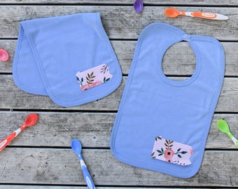 Pennsylvania Baby Bib Burp Cloth - Pennsylvania Baby Gift - ANY State Available + More Fabric Options!