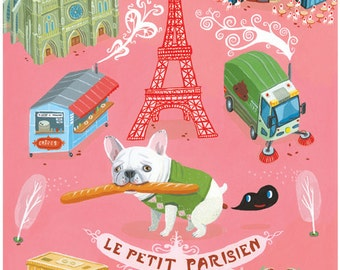 "Le Petit Parisien / by Aaron Meshon / Limited edition 13""x19"" archival Giclee print"