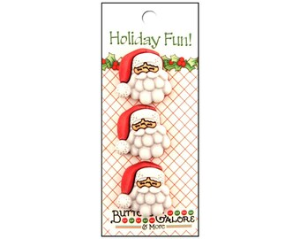 Fun Santa Claus fun buttons for scrapbooking, sewing, journals, and other crafts